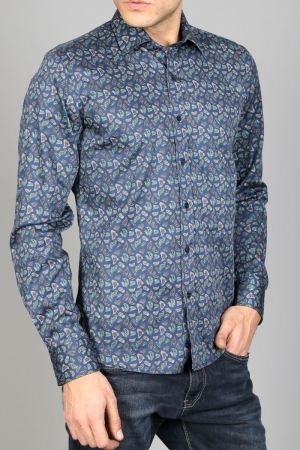 Рубашка муж. арт.15949 ENR SHIRT NAVY BLUE