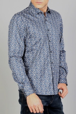 Рубашка муж. арт.15952 ENR SHIRT NAVY BLUE