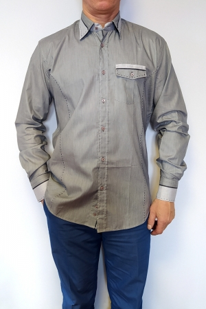 Рубашка муж. арт.15723 ENR GREY SHIRT