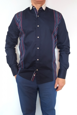Рубашка муж. арт.15718 ENR NAVYBLUE & RED SHIRT